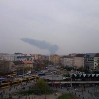 Hatalmas füst terjedt Pestről Buda irányába