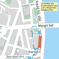Figyelem! Vízcsőtörés miatt este 8-tól hajnali 4-ig lezárják a Bem rakpartot a Bem József térnél
