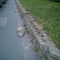Terméskő fal karbantartás a Csalogány utcában