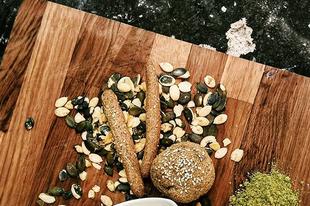 Tökmaglisztes buci | Bun with pumpkin seed flour #grapoila #glutenfree #glutenfreeflour #pumpkinseedflour #pumpkinseeds