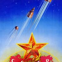 Szovjet propaganda plakátok az űrverseny időszakából