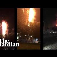 Így égett a 24 emeletes Grenfell Tower