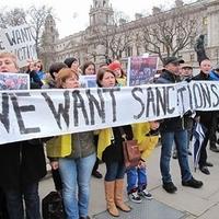 Ukránok vonultak fel szankciók bevezetéséért