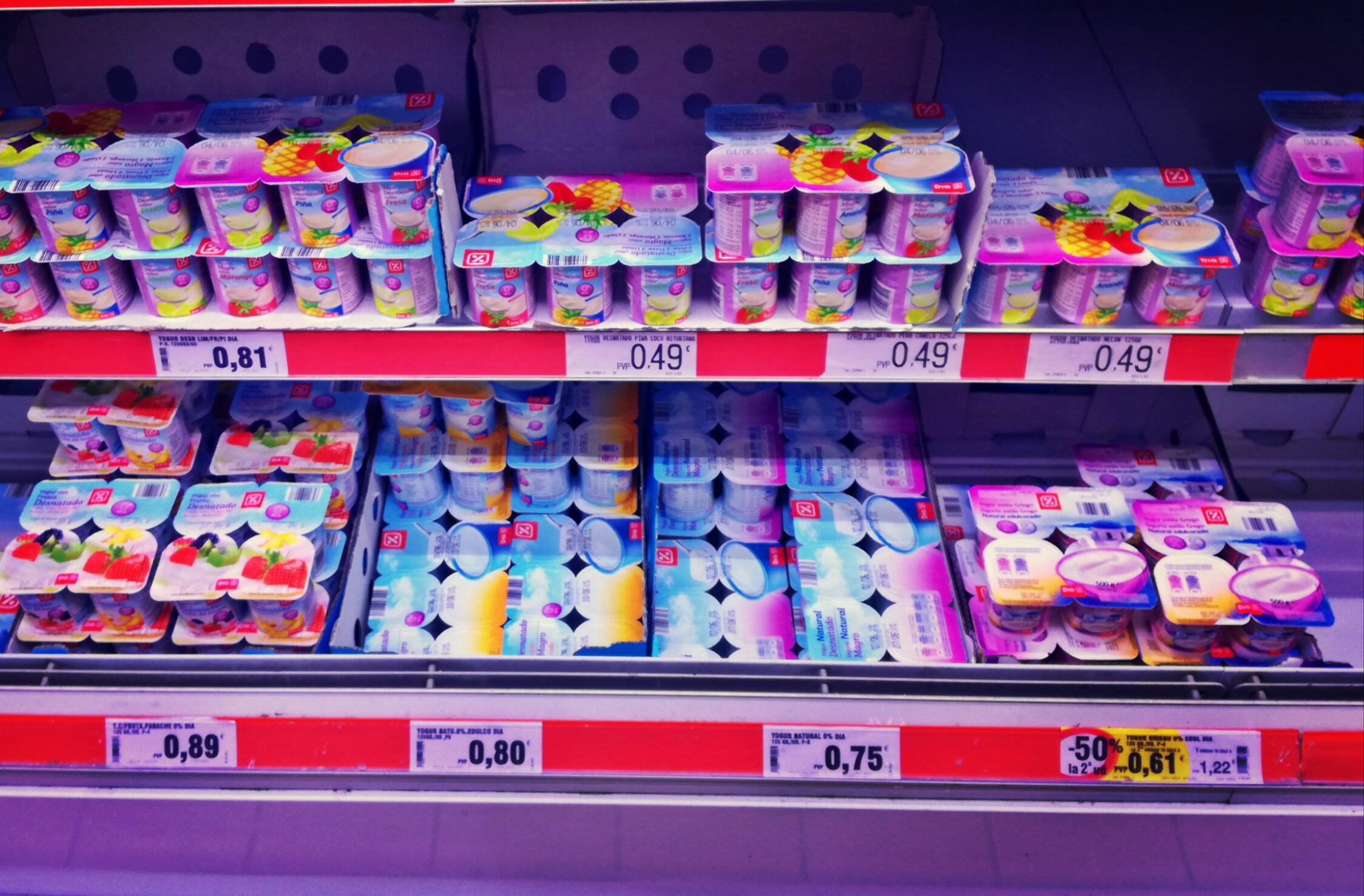 Joghurtot általában négyes-hatos csomagban lehet csak vásárolni.