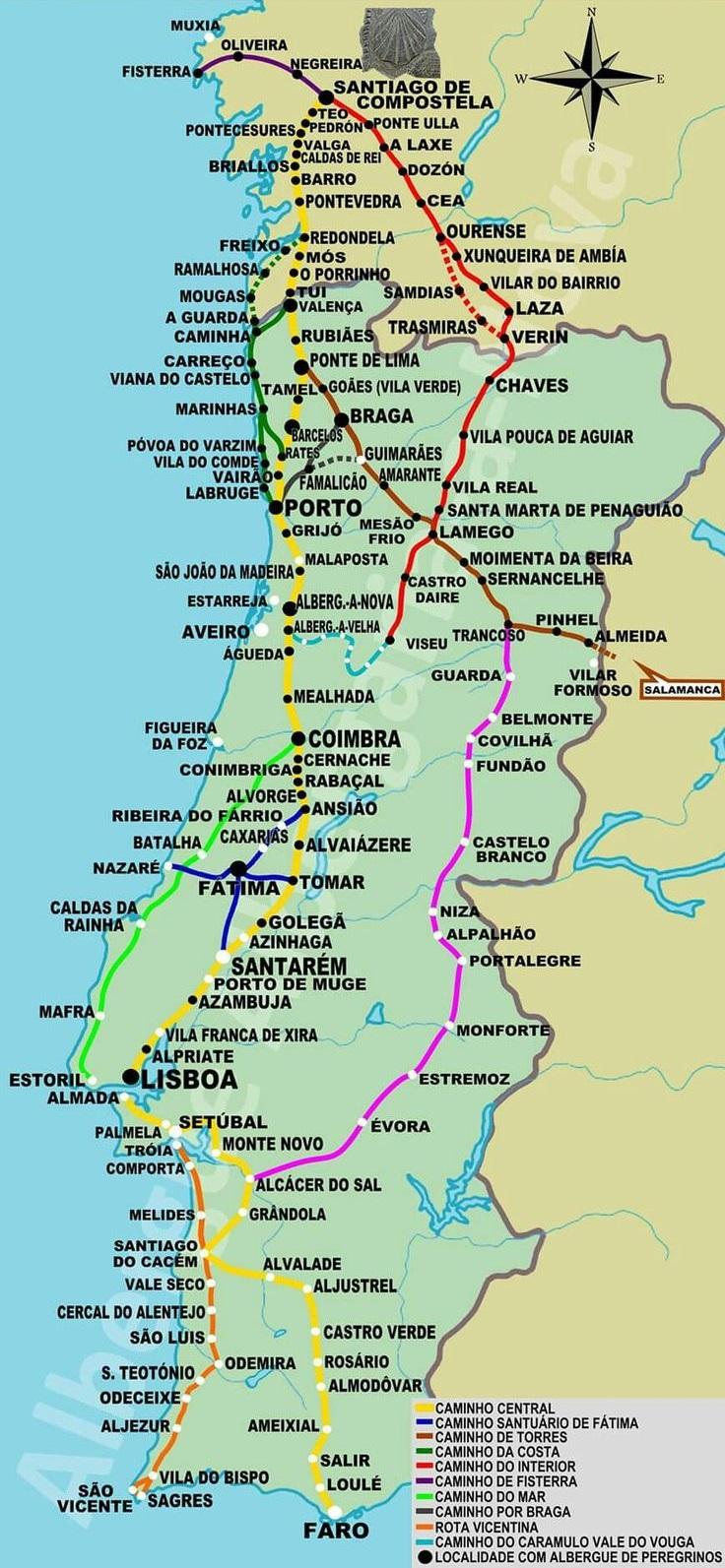 portugal_ut_el_camino_utvonalak_reszletes_terkep.jpg