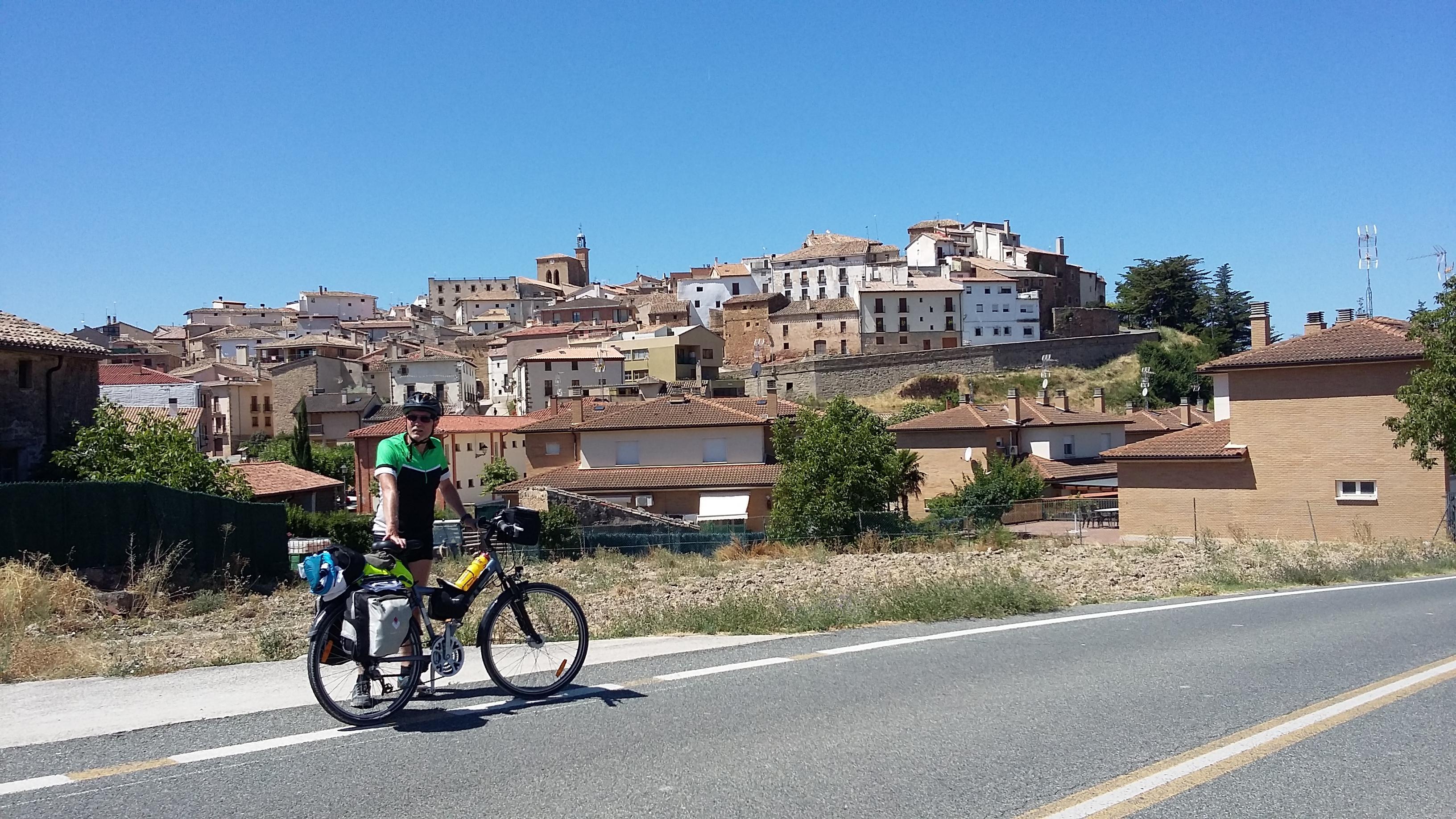 Cirauqui. Egy gyönyörű kisváros látképe.