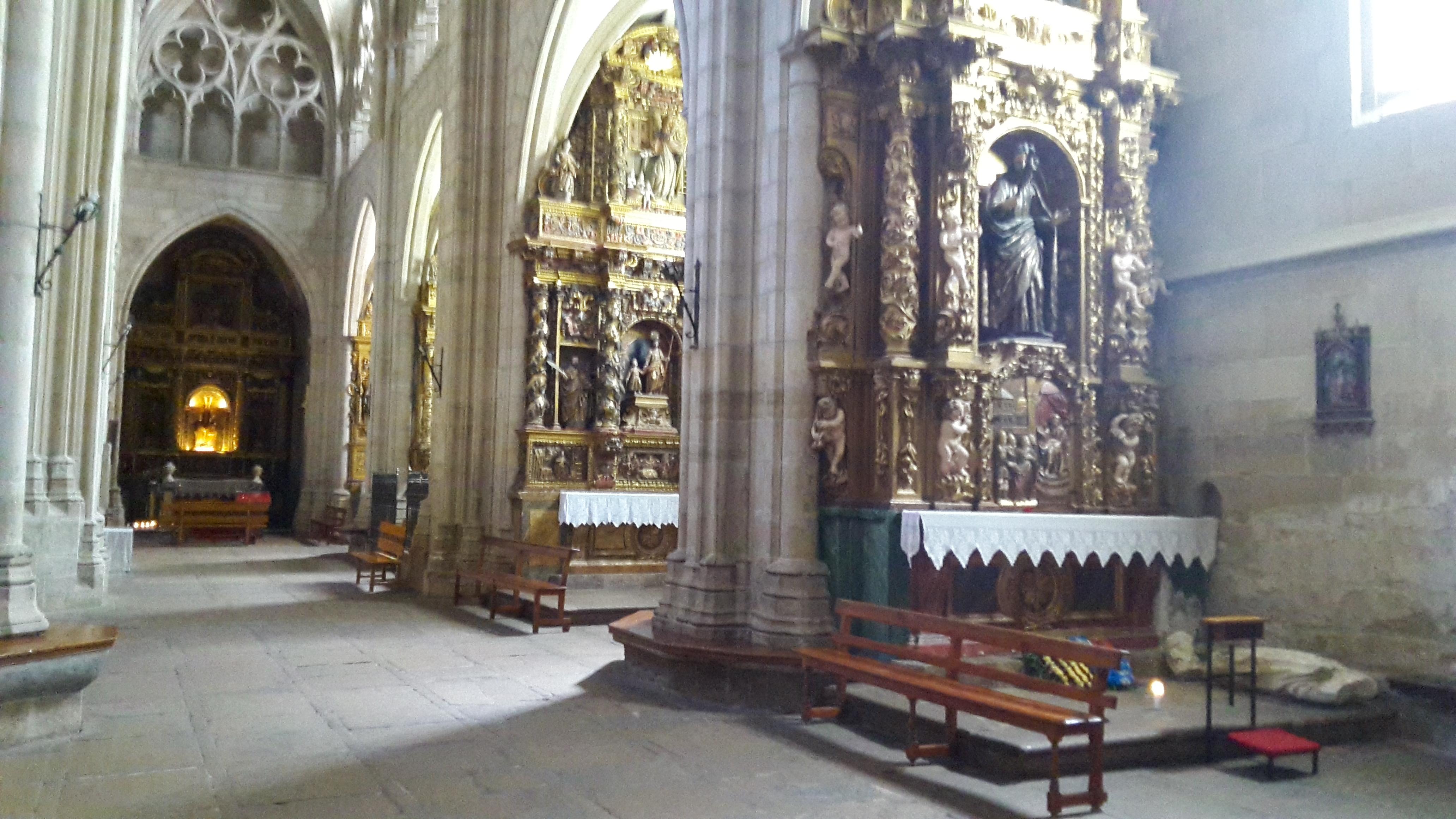 Viana Iglesia Santa Maria. A templom belülről.