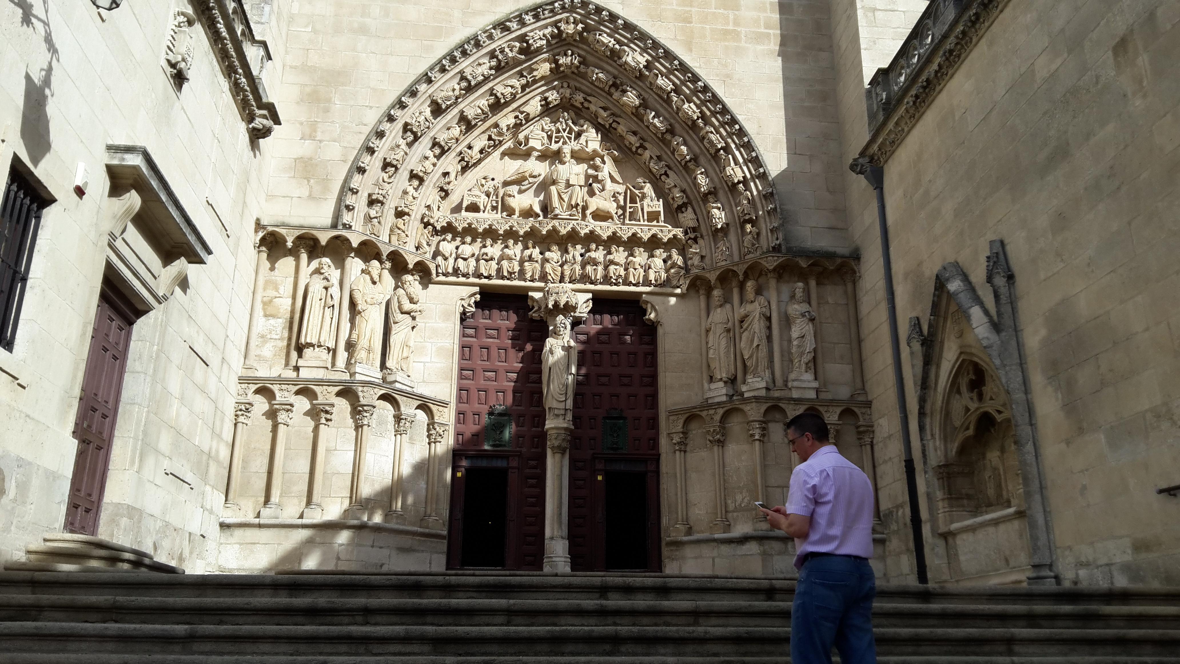Burgos burgosi katedrális déli kapu.