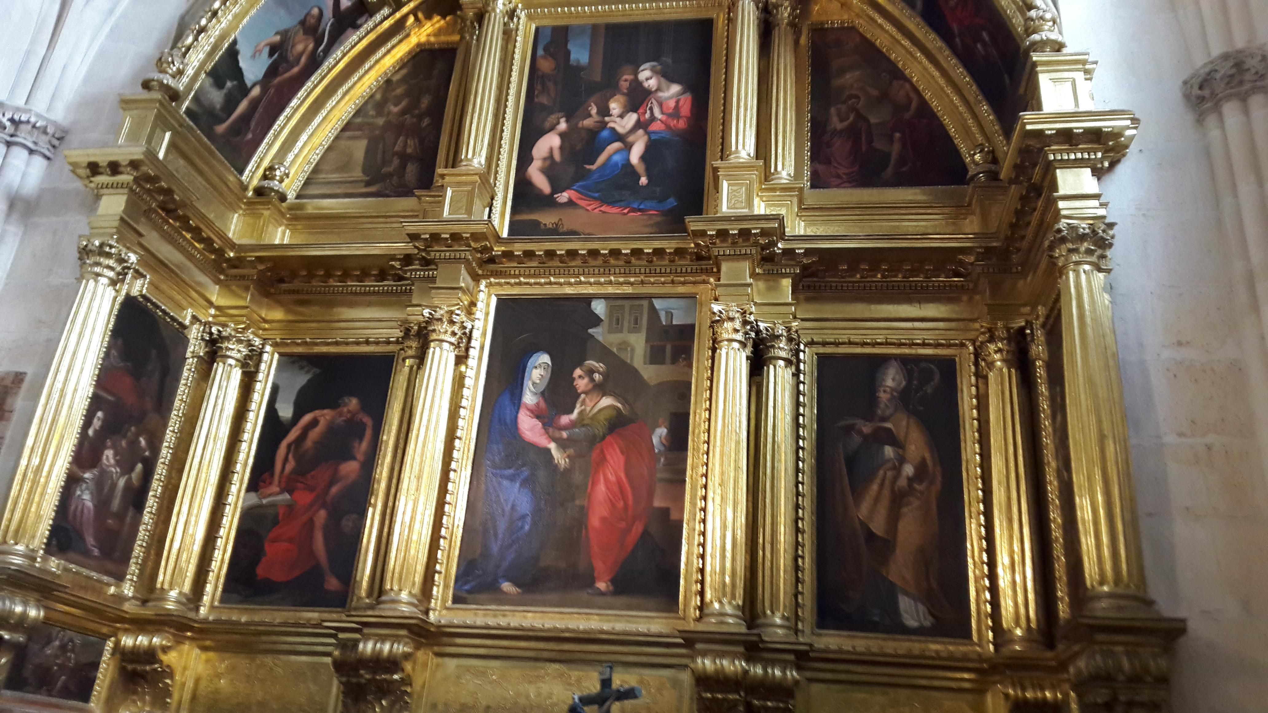 Burgosi katedrális egyik oltára.