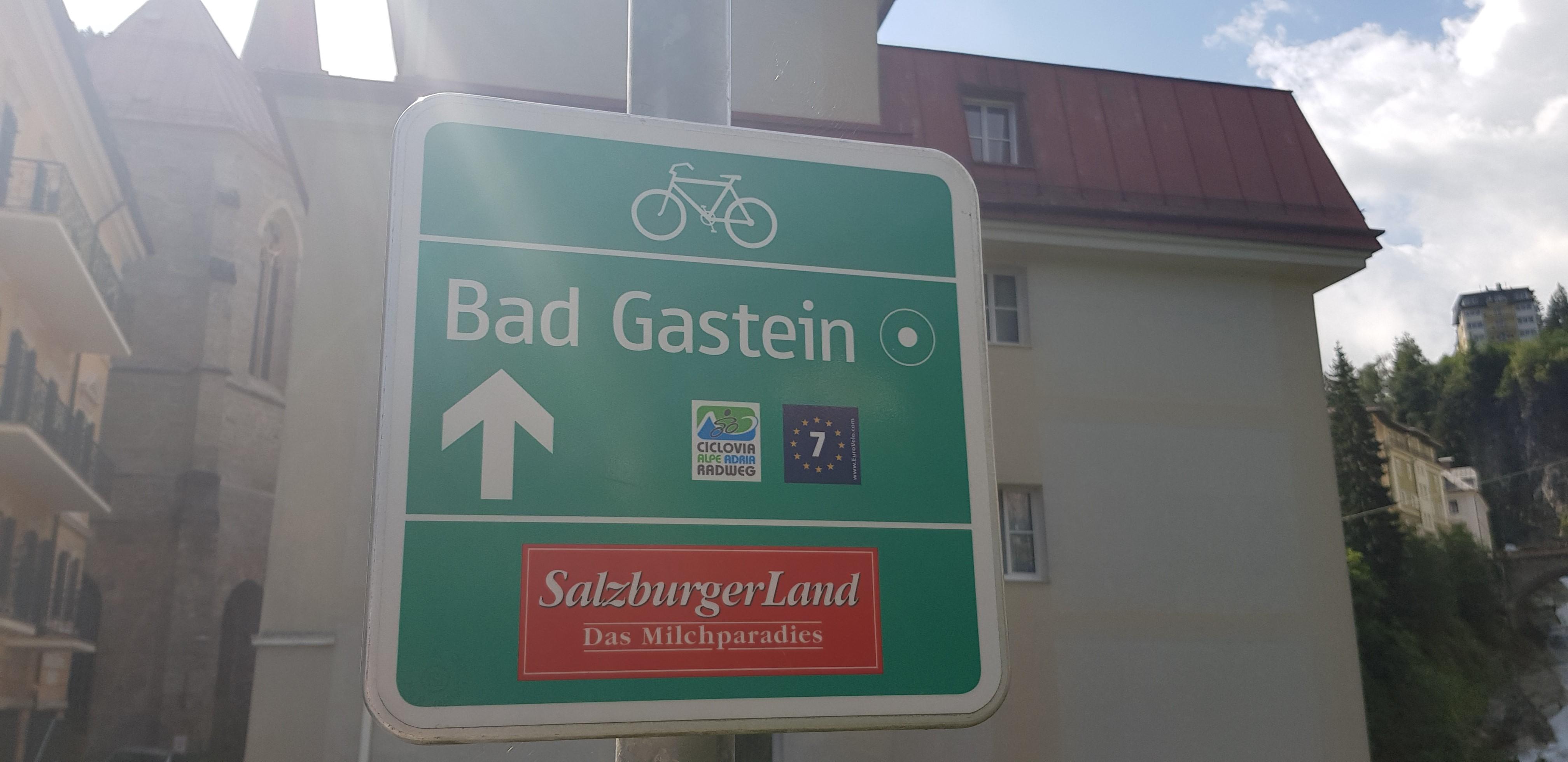Alpok - Adria kerékpárút útjelző