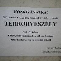 Terrorveszély a Ferenciek terén