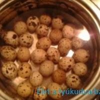 Füstölt fürj tojás