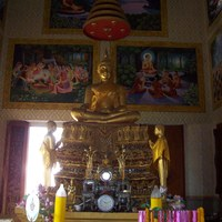 Thaiföld, templomok - Wat Chai Mongkon belülről