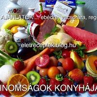 ÉTEL AJÁNLATOK......ebédre,...vacsorára,....reggelire!  1.rész