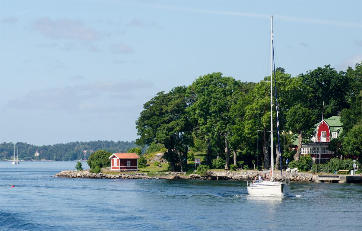Útban Vaxholm szigetére - Fotó: dr. Szalai Krisztián
