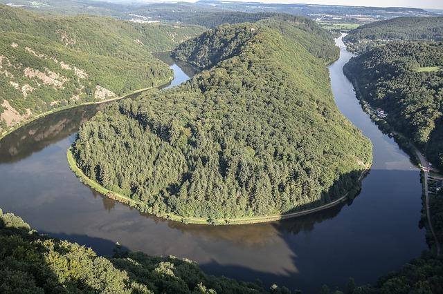 Saar folyó kanyarulat