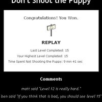 don't shoot the puppy!