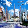 A Belváros 2058-as forgalmi helyzete