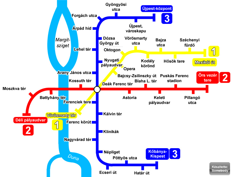 M3 metró megállók