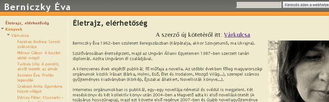 Berniczky Éva honlapja