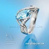 Kék gyémánt jegygyűrű (Blue diamond engagement ring)
