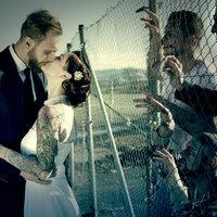 Zombis esküvői fotók