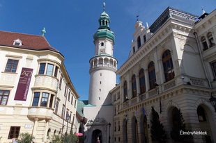 Sopron ikonikus jelképe, a Tűztorony