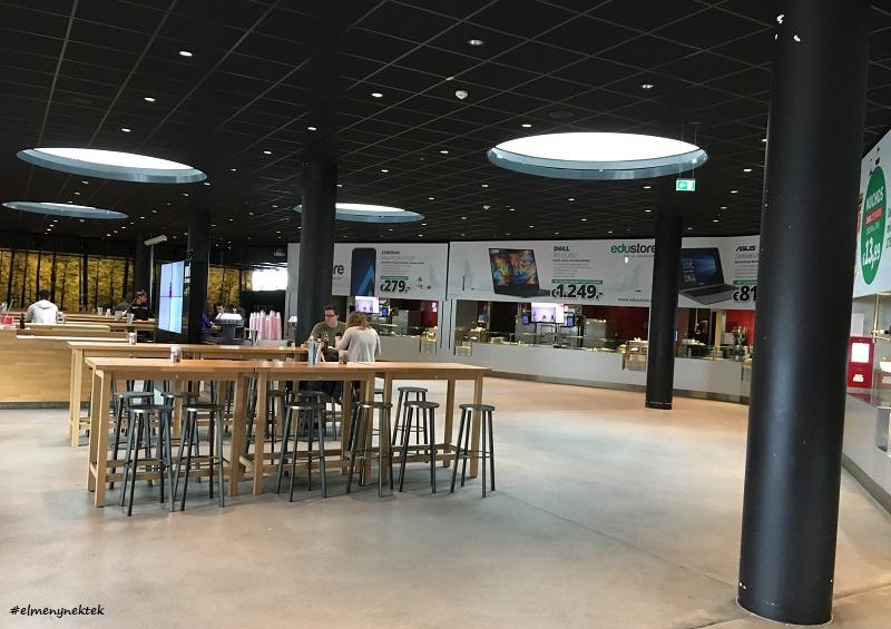 Ez az építészeti szempontból is nagyon különleges és modern WU (Közgazdaságtudományi Egyetem) étterme.