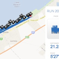 2011.11.20-ai futás: Balaton félmaraton