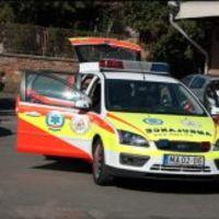Gyermek mentőorvosi kocsi Pécsen