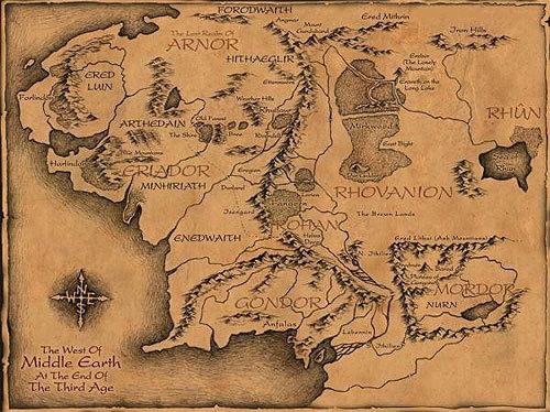 középfölde térkép Középfölde térképe   Tünde történet középfölde térkép