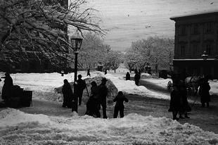 Az első hó a régi Pesten