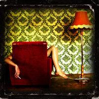 fotel, cigaretta, lámpa