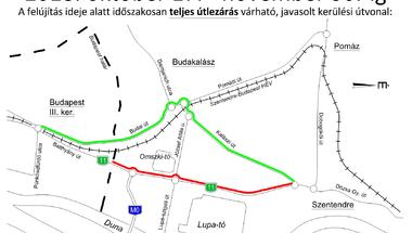 Megújul a Szentendrét Budapesttel összekötő kerékpárút