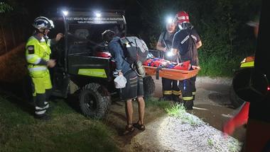 Bajba jutott és megsérült egy túrázó éjjel a Kőhegyi Menedékháznál