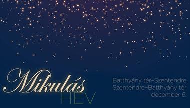 Mikulás HÉV indul Szentendrére december 6-án és 11-én