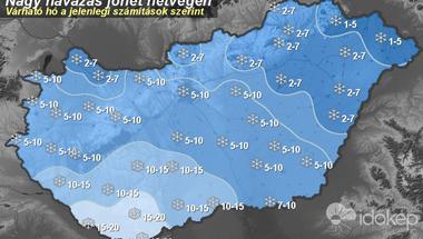 Hétvégén beköszönt a tél: 10 centinél is több hó eshet
