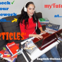 CHECK YOUR English HOMEWORK with ME - meet&greet Ms myTutor - ARTICLES