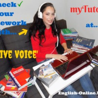 CHECK YOUR English HOMEWORK with ME - meet&greet Ms myTutor - PASSIVE VOICE