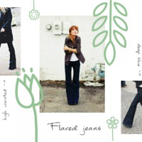 Welcome back flared jeans!