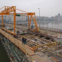 Margit hídi munkálatok