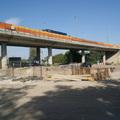 M0 felüljáró építése a Nagytétényi úton