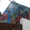 Tűzfalfestmény a Gyümölcs utcában