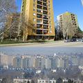 A város első átszínezett toronyházai