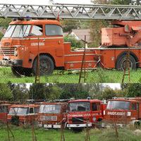 Öreg tűzoltóautók a Szent Flórián körúton