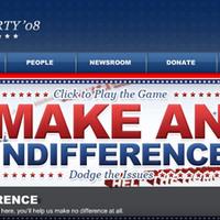 Az Apátia párt weboldala, USA