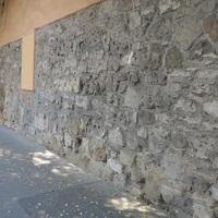 Középkori városfal Budán (az egyetlen,még fellelhető) / Széll Kálmán tér, (Margit krt.) Bp, 98