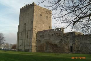 Portchester-i vár, római erődön, /Portchester, UK, 31