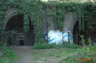 Séta egy felszedett vasútvonalon. Parkland walk, /London, UK, 20