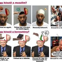 Így készül a muszlim és a keresztény viccesen